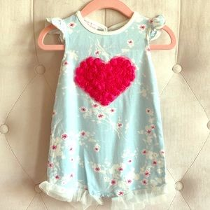 Floral Heart One-Piece